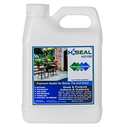 Serveon Sealants H2Seal H2100 Stone Sealer - Professional Grade for Natural Stone, Grout, Brick, Tile and Artificial Stone (1 Quart, Stone Sealer) (Waterproof Grout Sealer compare prices)