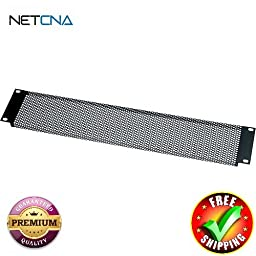 VT3-CP6 Contractor Pack of 3U Vented Blank Panels (6 Pieces) With Free 6 Feet NETCNA HDMI Cable - BY NETCNA