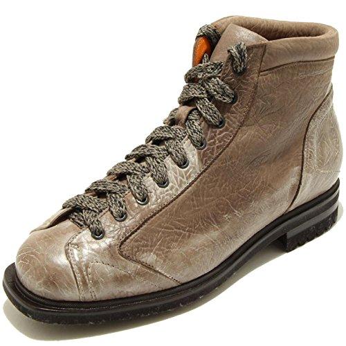 1133G scarponcino tortora SANTONI POSTIANO scarpa polacchino stivale uomo boots [9.5]
