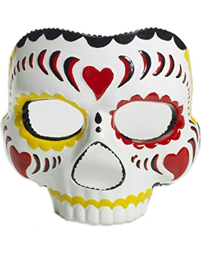 [Popcandy Plastic Female Day of the Dead Mask] (Day Of The Dead Female Mask)