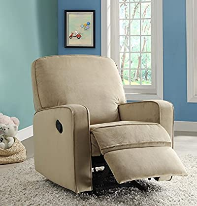 Pulaski Sutton Swivel Glider Recliner, Zen Grey with Stella Piping