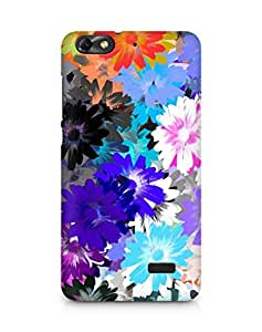Amez designer printed 3d premium high quality back case cover for Huawei Honor 4C (Oil Colorful Drawing Flower)