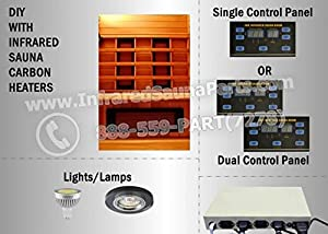 Diy infrared sauna kit with low emf ceramic for Cost to build a sauna