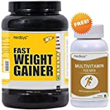 Medisys Fast Weight Gainer - Banana - 1.5Kg [Free Multivitamin For Men]