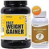 Medisys Fast Weight Gainer - Banana - 1.5Kg [Free Multivitamin For Men]