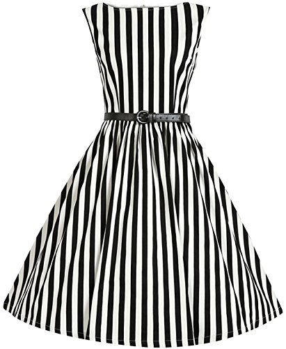 Babyonline-Sleeveless-women-casual-dress-stripes-Vintage-swing-cocktail-dress