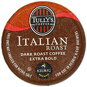 Tully's Coffee, Italian Roast, K-Cup Portion Pack for Keurig K-Cup Brewers 72-Count from TULLY'S COFFEE