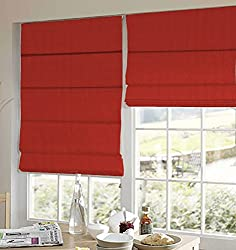 PRESTO BAZAAR 1 Piece Polyester Stripes Blind - Red