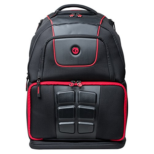 6 Pack Fitness Voyager Laptop Backpack With Insulated Meal Management System, Black/Red