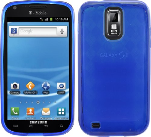 Blue Cover Gel Tpu Case For T-Mobile Samsung Galaxy S 2 Ii S2 Sii T989 Hercules