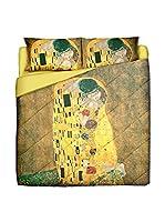 Tele d'autore by MANIFATTURE COTONIERE Edredón Klimt Il Bacio (Oro/Multicolor)