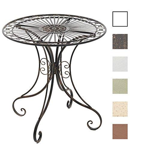 CLP-Design-Eisentisch-HARI-nostalgisches-Design-bis-zu-6-Farben-whlbar-rund-Durchmesser--70-cm-Hhe-73-cm-bronze