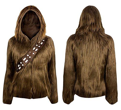 Star Wars I Am Chewbacca Furry Juniors Hoodie (Medium)