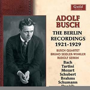 Adolf Busch:the Berlin Recs 19