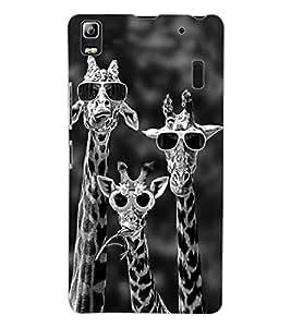 ColourCraft Funny Animal Design Back Case Cover for LENOVO A7000 TURBO