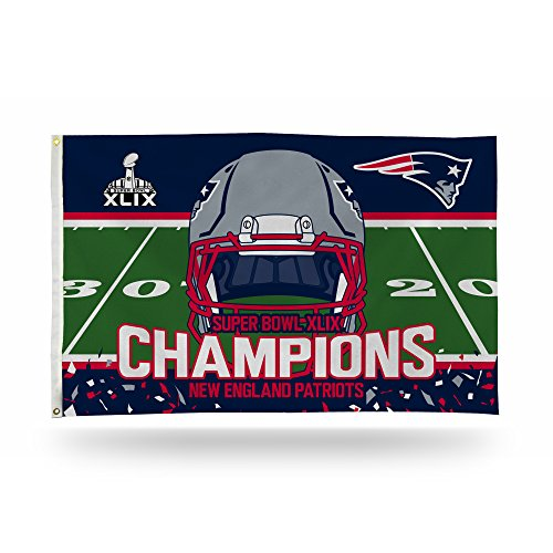 NFL New England Patriots Super Bowl XLIX Champion Banner Flag, 3 by 5-Foot, White (Patriots Banner Champions compare prices)