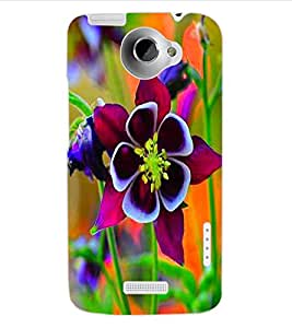 ColourCraft Beautiful Flower Design Back Case Cover for HTC ONE X