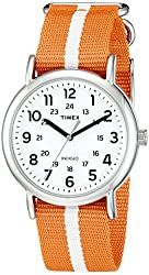 Timex Unisex TW2P681009J Weekender Varsity Row Analog Display Quartz Orange Watch