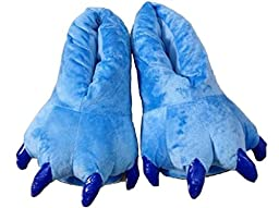 FashionFits Unisex Soft Plush Home Slippers Animal Costume Paw Claw Shoes Blue S