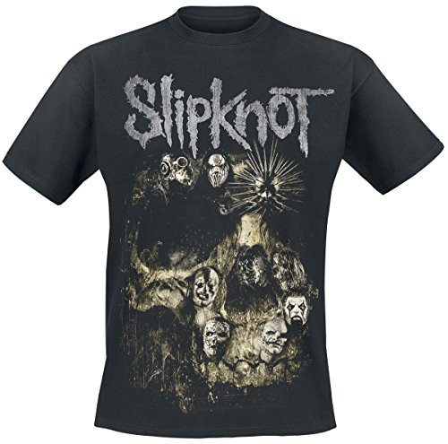 Slipknot Skull Group T-Shirt nero XXL