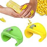 HuntGold 1X Corn Grain Peel Gadget Peeler Kerneler Stripping Stripper Kitchen Tool(green)