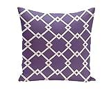 Ebydesign Geometric Decorative Pillow, Heather Purple-2