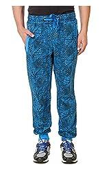 Spunk Men Cotton Track Pant (1000269436003_Blue_L)