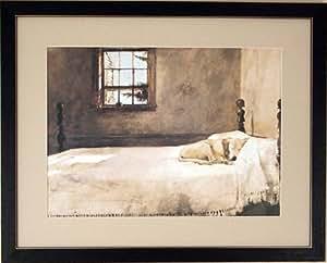 Big Framed Andrew Wyeth Master Bedroom Dog On Bed Prints Posters Prints