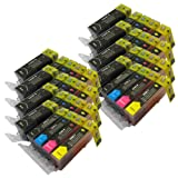 40 CiberDirect Compatible Ink Cartridges for use with Canon Pixma MG6250 Printers.