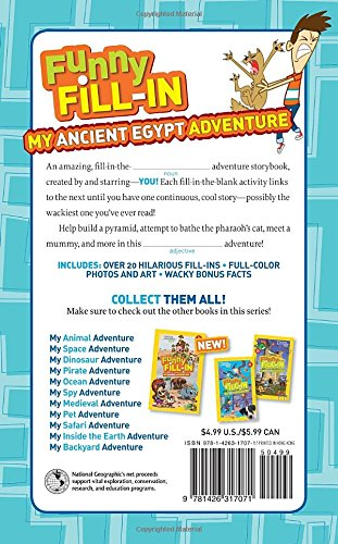 My Ancient Egypt Adventure (National Geographic Kids Funny Fill in)