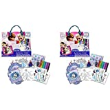 Disney Frozen Fashion Activity Tote X 2 Sets (Coloring, Stickers, And Magnetic Play Scene)
