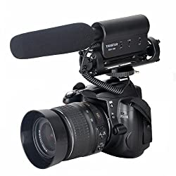 SGC-598 Photography Interview Shotgun MIC Microphone for Nikon Canon DSLR Camera (Need 3.5mm Interface) by KingMas