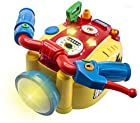 WolVol Kids Motorcycle Toy with Headlight, Blinkers, Horn, Short Stops, Music and Rides On Its Own