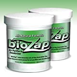 BioZap Air Purifier & Deodorizer (2-pack/2 lbs., natural scent) - Naturally Cleans Musty Odors from Mold, Mildew