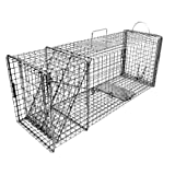 Tomahawk Tomahawk Original Series Rigid Trap with Easy Release Door for Raccoons/Feral Cats/Badgers, 1 x 1 in. Mesh