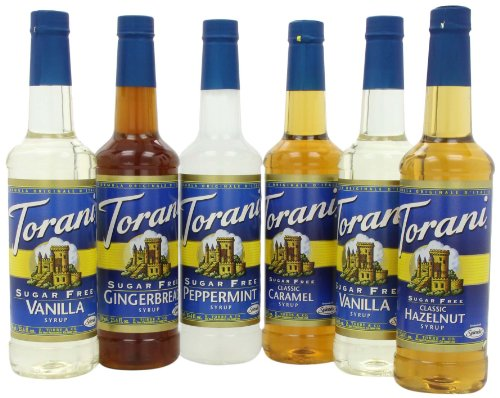 Torani Sugar Free Holiday Variety Pack, 152-Ounce