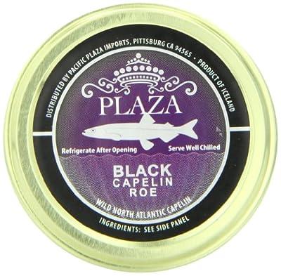 Plaza Premium Amazon Quality Capelin Caviar, Black, 1.76 Ounce