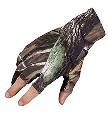 Elastic Fishing Gloves,Three Fingerless Anti-slip Waterproof Sport Hunting Gloves