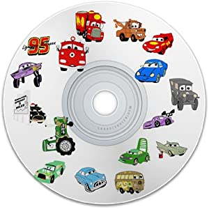 digitized embroidery 40 disney pixar cars machine