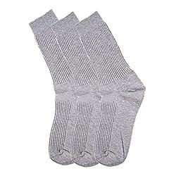 Hans Men's Striped Socks (Pack of 3) (c3gry_grey)
