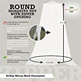 Hanging Mosquito Net Bed Canopy by Posh Earth -Sealable Bug Screen for Indoor & Outdoor Use -Fits Up To A King Mattress