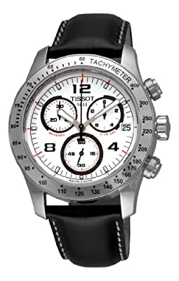 Tissot Men's T0394171603700 V8 Chronograph White Chronograph Dial Watch