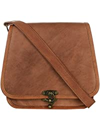 Ramraj - 100% Pure Genuine Real Handmade Ladies Crossover Shoulder Messenger Leather Bag