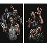 "WOWindow Posters Zombie Asylum Halloween Window Decoration Two 34.5""x60"" backlit posters"