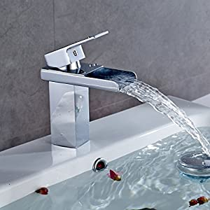 auralum design robinet de lavabo mitigeur d 39 vier cascade. Black Bedroom Furniture Sets. Home Design Ideas