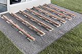300 Stück Profi Terrassenpads 100 x 100 x 8mm, Balken Auflagepads, Unterkonstruktion, Bautenschutzmatte, Gummipad, Unterlage, Terrassenbau, WPC, BPC, Gummigranulat