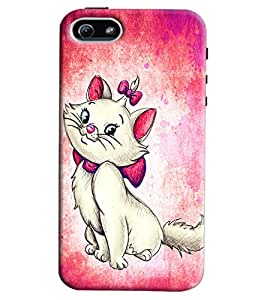 Blue Throat Cat Inspired Hard Plastic Printed Back Cover/Case For Apple iPhone 5s