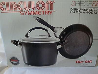 Circulon Symmetry 3 Piece Cookware Set - Black