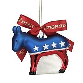 Waterford Holiday Heirlooms Democratic Donkey Ornament