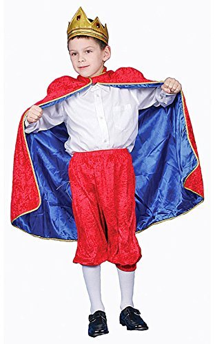 Pretend Deluxe Royal King (Red) Child Costume Dress-Up Set Size 4T